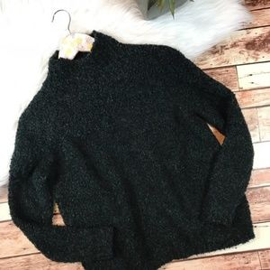 Ann Taylor LOFT Fuzzy Mock Neck Sweater